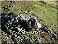 NY1818 : Boots left at Whiteless Pike summit  by Graham Robson