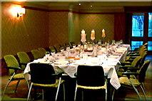 R4460 : Bunratty Castle Hotel - Table Setting for Wedding Reception Dinner by Joseph Mischyshyn