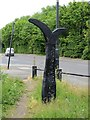 NZ3054 : Millennium milepost , Washington by Richard Webb