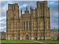 ST5545 : West Front, Wells Cathedral by David Dixon