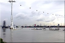 TQ3979 : The cable car over the River Thames by Steve Daniels