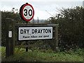 TL3761 : Dry Drayton Village name sign by Adrian Cable