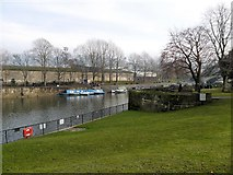 ST7564 : River Avon and Parade Gardens, Bath by David Dixon