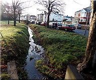 ST1477 : Drain alongside St Fagans Road, Cardiff by Jaggery