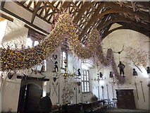 SX4268 : The Christmas Garland at Cotehele House 2013 by David Smith