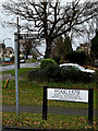 TL2863 : Footpath & Wood Lane signs by Adrian Cable