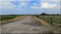 NT5080 : Perimeter track, RAF Drem by Richard Webb