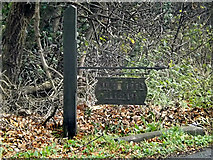 TL2359 : Weald Farm Cottage sign by Adrian Cable