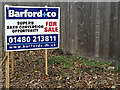 TL2360 : Estate Agents Board at North Farm by Adrian Cable