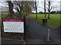 SK6007 : Entrance to Rushey Fields Recreation Ground by Mat Fascione