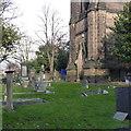 SK5539 : A corner of Lenton Churchyard by Alan Murray-Rust
