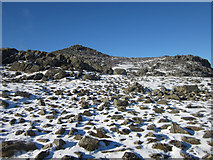 NY2406 : Looking along the path to Bowfell summit by Graham Robson