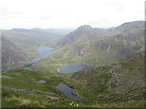 SH6359 : Lakes view from Y Garn by Peter S