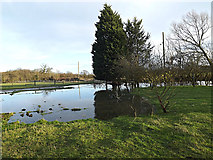 TM3667 : Flooded entrance of Corner Farm by Adrian Cable