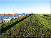 TG3504 : The Wherryman's Way past Buckenham sailing club by Evelyn Simak