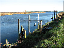TG3504 : View across the River Yare by Buckenham Ferry drainage pump by Evelyn Simak