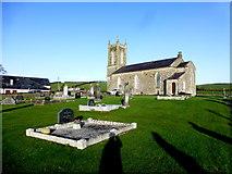 H5956 : Long shadows, Ballynasaggart COI Graveyard by Kenneth  Allen
