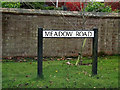 TL2655 : Meadow Road sign by Adrian Cable