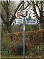TL2655 : Roadsigns on the B1046 Meadow Road/Ladys Hill by Adrian Cable