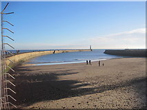 NZ4349 : Beach and Outer Harbour, Seaham Harbour by Les Hull