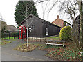 TL2755 : Telephone Box & Great Gransden Telephone Exchange by Adrian Cable