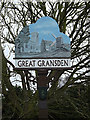 TL2755 : Great Gransden Village sign by Adrian Cable