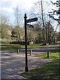 ST8993 : Tetbury rail land sign post by Paul Best
