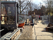 SP3165 : Construction of new storm water relief sewer, York Road by Robin Stott