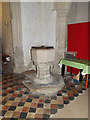 TL2755 : Font of St Peter and St Paul Church, Little Gransden by Adrian Cable