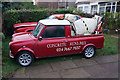 SP3183 : Concrete Mini-mix Van on Keresley Road by Ian S