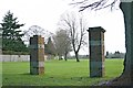 TQ2458 : Gate pillars at Tattenham Way recreation ground by Hugh Craddock