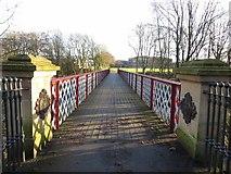 SD7009 : Dobson footbridge, Queen's Park by Philip Platt
