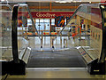 SS5532 : A moving walkway at Tesco Extra, Taw Vale, Barnstaple by Roger A Smith