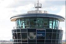 NJ9505 : Control tower, Aberdeen Harbour by Richard Webb