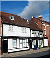 SO8932 : Black and white house in Barton Street, Tewkesbury by Jaggery