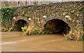 J3268 : The muddy Minnowburn, Belfast (December 2013) by Albert Bridge