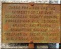 SS7994 : West Glamorgan County Council notice in Pontrhydyfen by Jaggery