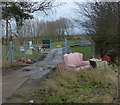SP7190 : Fly tipping along Langton Road by Mat Fascione