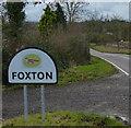 SP7090 : Foxton village sign along Langton Road by Mat Fascione