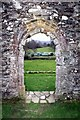 SH7219 : Doorway in Cymer Abbey by Jeff Buck