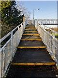 TQ0471 : Footbridge over the A308 by Stefan Czapski