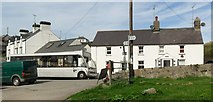 SH1726 : Bus waiting in Aberdaron by nick macneill