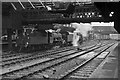 SJ8499 : Waiting banking engines, Manchester Victoria, 1966 by Robin Webster