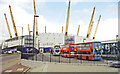 TQ3979 : Millennium Dome under construction, beside North Greenwich station, 1999 by Ben Brooksbank