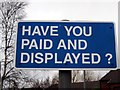 SJ4067 : Have You Paid and Displayed? by Jeff Buck