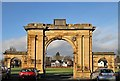 NT7334 : Shedden Park Gateway, Kelso by Walter Baxter