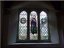 ST9929 : St George, Fovant: stained glass window (IV) by Basher Eyre