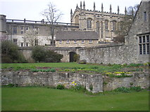 SP5105 : Memorial garden and Christ Church, Oxford by Sandy Gemmill