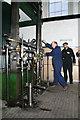 TQ1878 : Kew Bridge Steam Museum - starting the Bull engine by Chris Allen