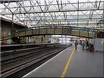 NY4055 : Footbridge over the tracks, Carlisle Citadel Station by Graham Robson